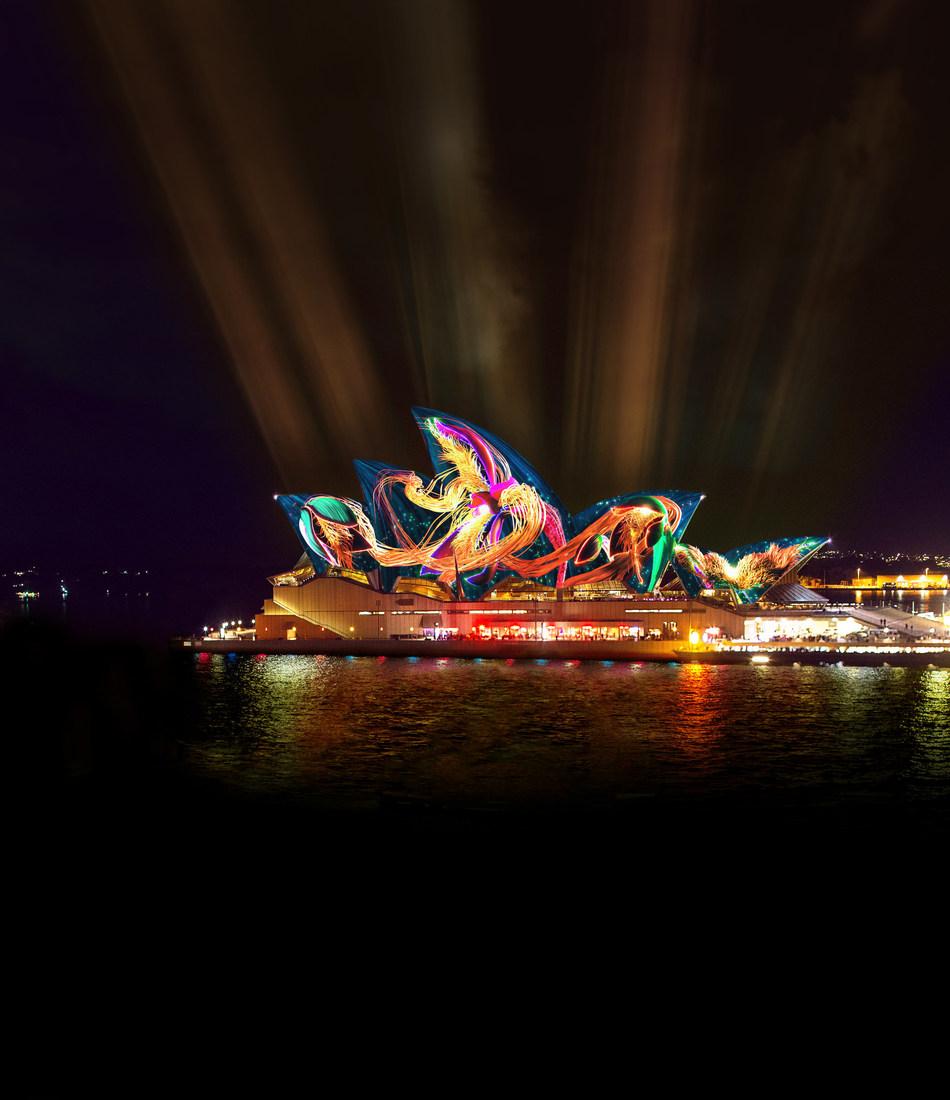 Vivid Sydney, Austral Floral Ballet, Andrew Thoma Huang & Bemo