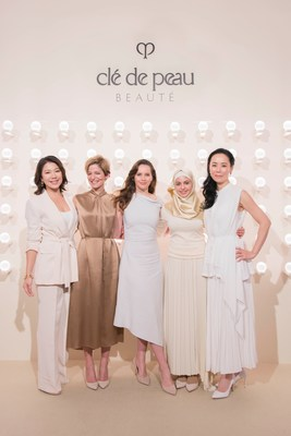 Felicity Jones, Clé de Peau Beauté Global Brand Ambassador, Muzoon Almellehan, Clé de Peau Beauté's Power of Radiance award recipient 2019, Cindi Leive, American journalist and an activist for women's rights, Naomi Kawase, award-winning Japanese film director, Belinda Lee, award-winning Singaporean television host, actress and motivational speaker, celebrate Radiance as an Empowering Energy.
