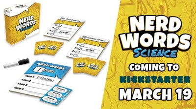 GENIUS GAMES LAUNCHES KICKSTARTER CAMPAIGN FOR THE WORLD'S FIRST-EVER SCIENCE-BASED PARTY GAME NERD WORDS: SCIENCE!