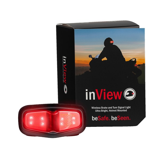 Third Eye Design's inVIEW Wireless Helmet Brake and SIgnal Light features ultra bright LEDs, long battery life and never needs to be turned on or off.