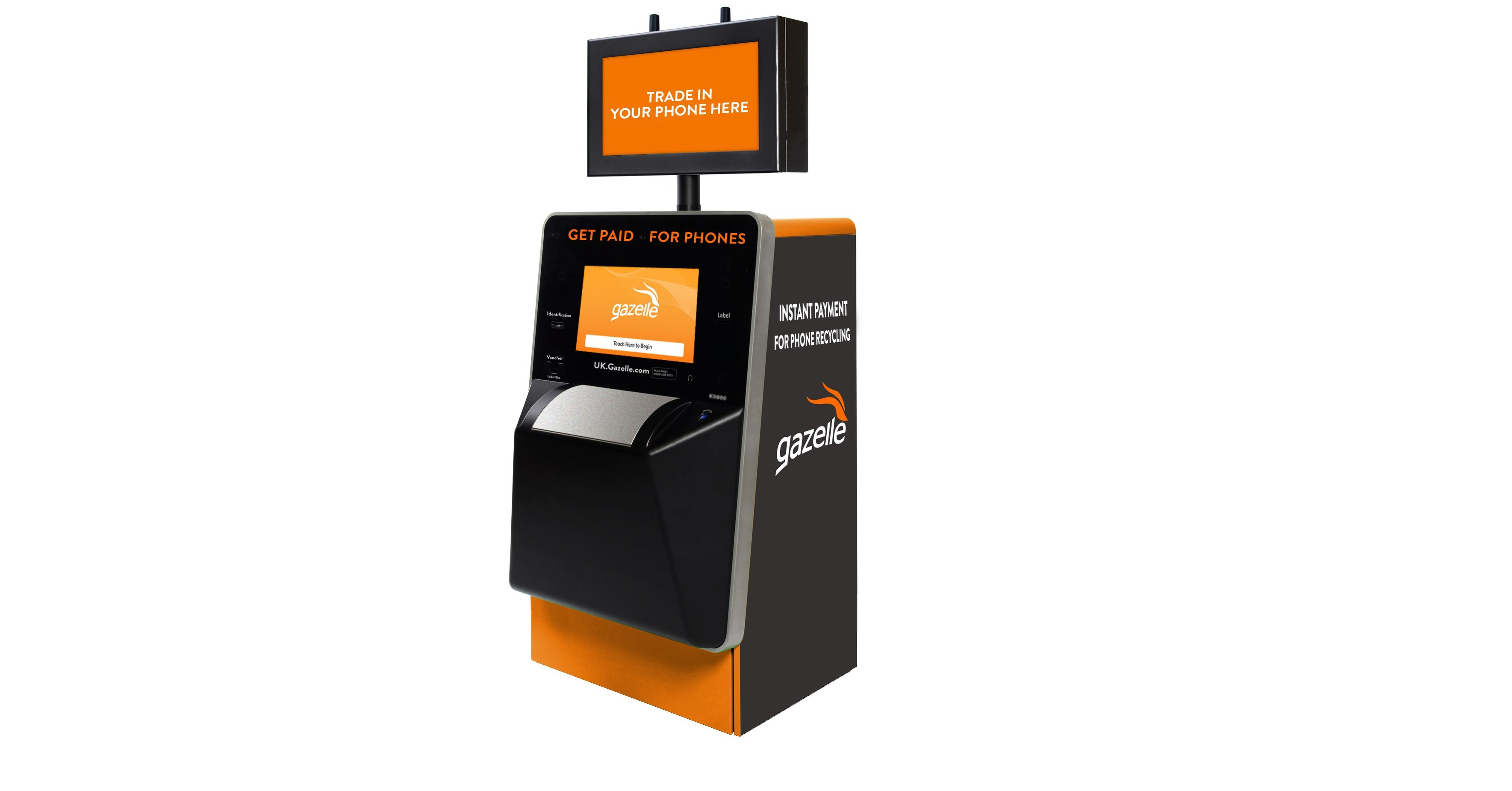 Gazelle Launches UK Self-service Kiosks for Recycling and Reusing Phones