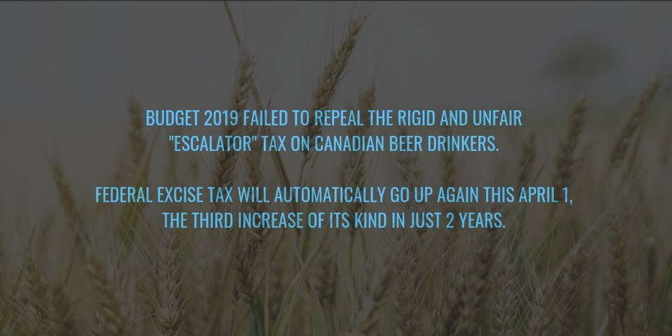 Budget (CNW Group/Beer Canada)