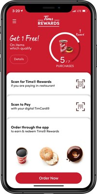 Introducing Tims Rewards™, a brand new loyalty program from Tim Hortons® available through the Tim Hortons mobile app or reusable loyalty card. (CNW Group/Tim Hortons)