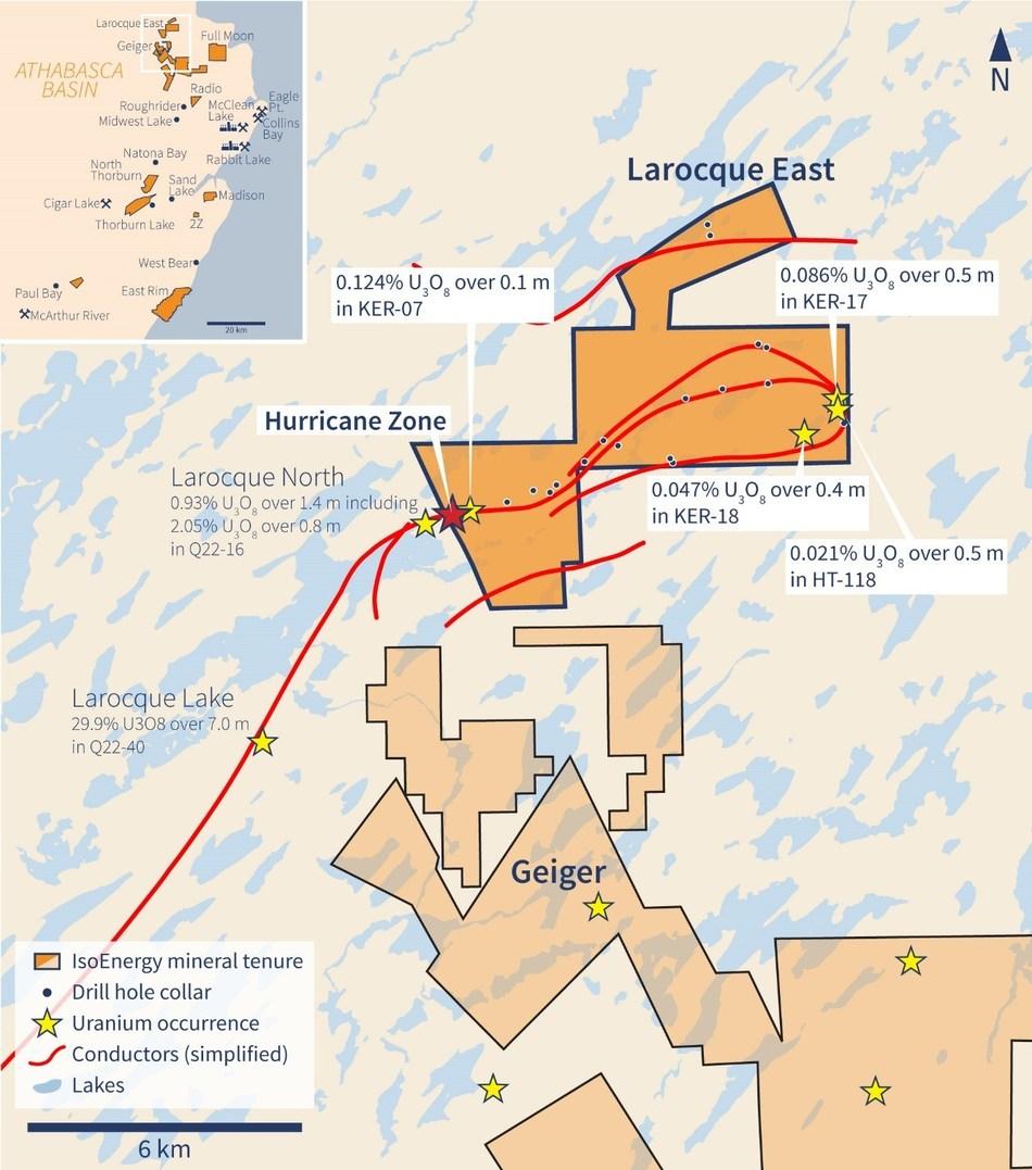 Figure 1 – Larocque East Property Location Map (CNW Group/IsoEnergy Ltd.)