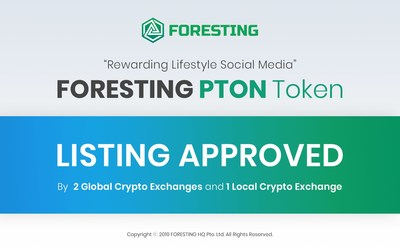 FORESTING PTON Token Listing approved