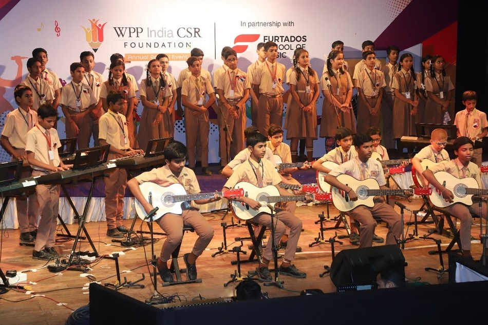 Children performing at the recital (PRNewsfoto/WPP Foundation)
