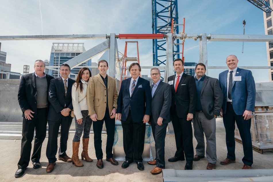 The Kessler Collection celebrates Grand Bohemian Charlotte's construction completion during topping out ceremony