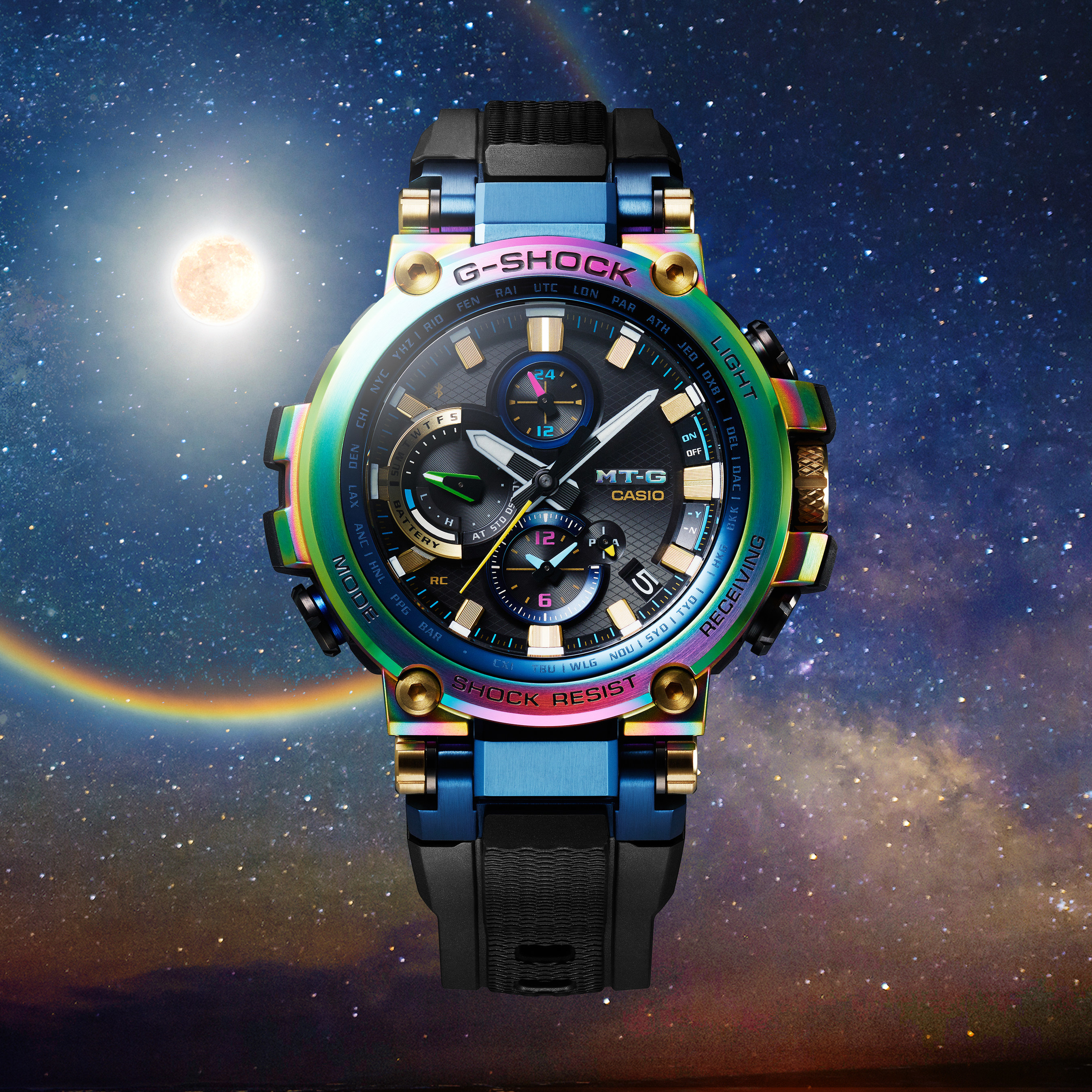 51af9e533e69 Casio G-SHOCK Reveals Limited-Edition MT-G In Rainbow Colorway At  Baselworld 2019