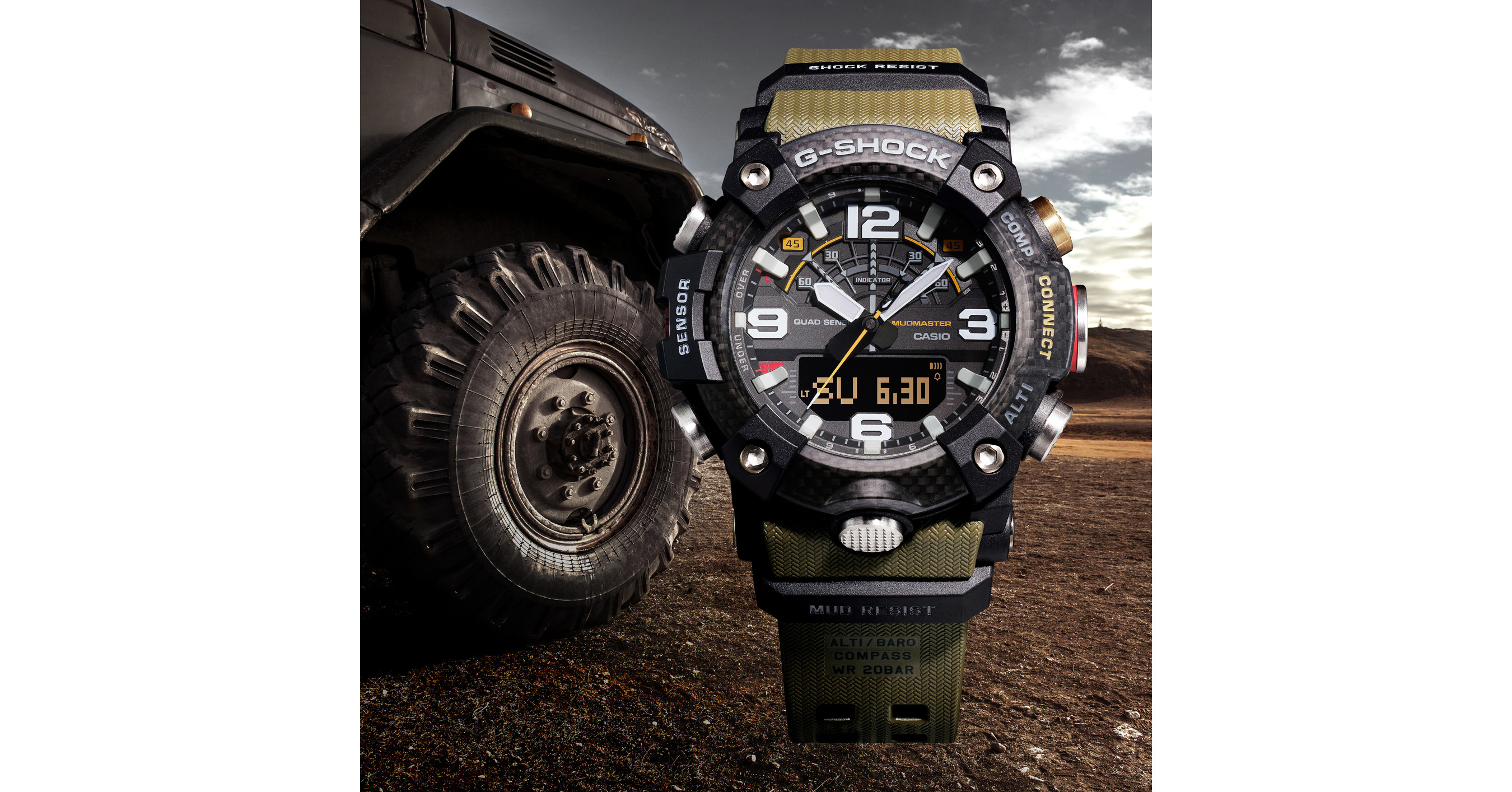 dc2b365fd099 Casio G-SHOCK Unveils All-New Connected Carbon MUDMASTER At Baselworld 2019