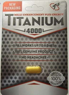 Titanium 4000 - Sexual enhancement (CNW Group/Health Canada)