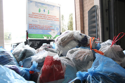 Bags of donations from SupplyHouse.com's RewearAble clothing drive