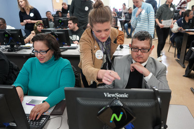 20 Google volunteers provided one-on-one digital training to 40+ Goodwill Learners