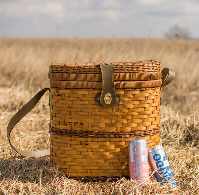 """Perfect for a picnic - Can Do canned wines from New York. """"Enjoy with a life well lived."""" We Can, You Can. Can-Do"""