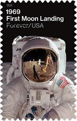 On the 50th anniversary of the first moon landing on July 20, 1969, the U.S. Postal Service is pleased to reveal two stamp designs commemorating that milestone in history.