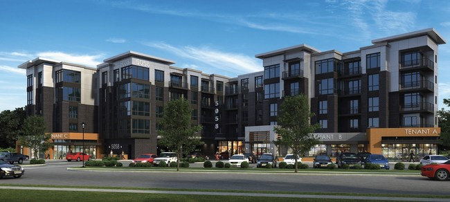 Rendering of new boutique rental building located in Paramus, NJ.