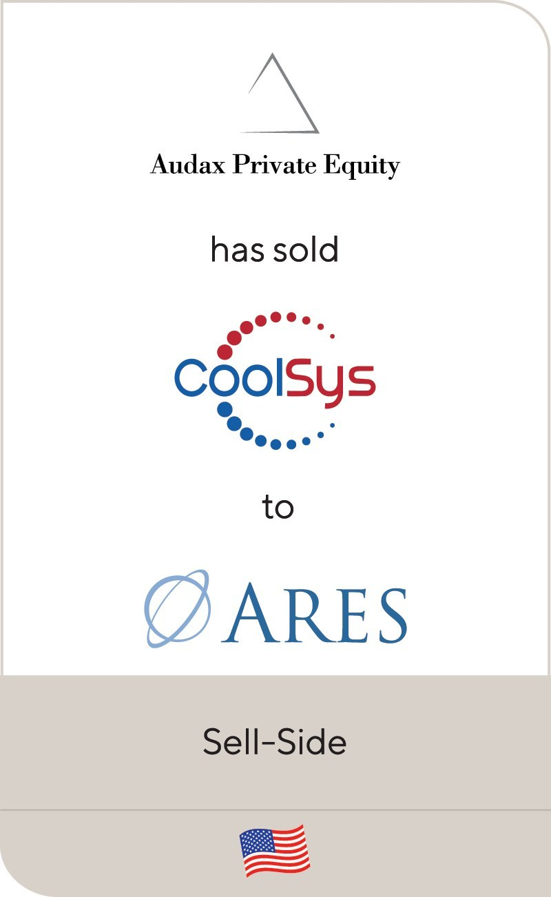 Lincoln International is pleased to announce that CoolSys, a portfolio company of Audax Private Equity, has been acquired by the Private Equity Group of Ares Management Corporation.