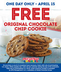 Great American Cookies® to Treat Customers to One Free Original Chocolate Chip Cookie on Tax Day (Monday, April 15)