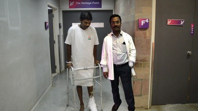 Youth's Crushed Legs and Life Saved by Timely Treatment at Parvathy Hospital