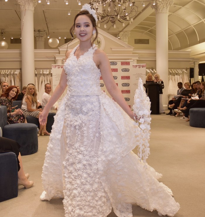 The 2018 winning Toilet Paper Wedding Dress entry by Roy Cruz of Virginia!