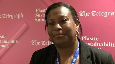 Janet Charles, acting High Commissioner of the Commonwealth of Dominica to the United Kingdom, at The Telegraph Plastic Sustainability Summit in London, on March 21, 2019