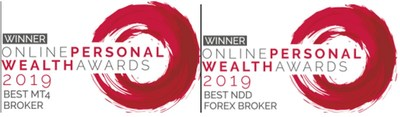 The 2019 Best MT4 Broker and the Best NDD Forex Broker awards from Online Personal Wealth Award for AETOS Capital Group