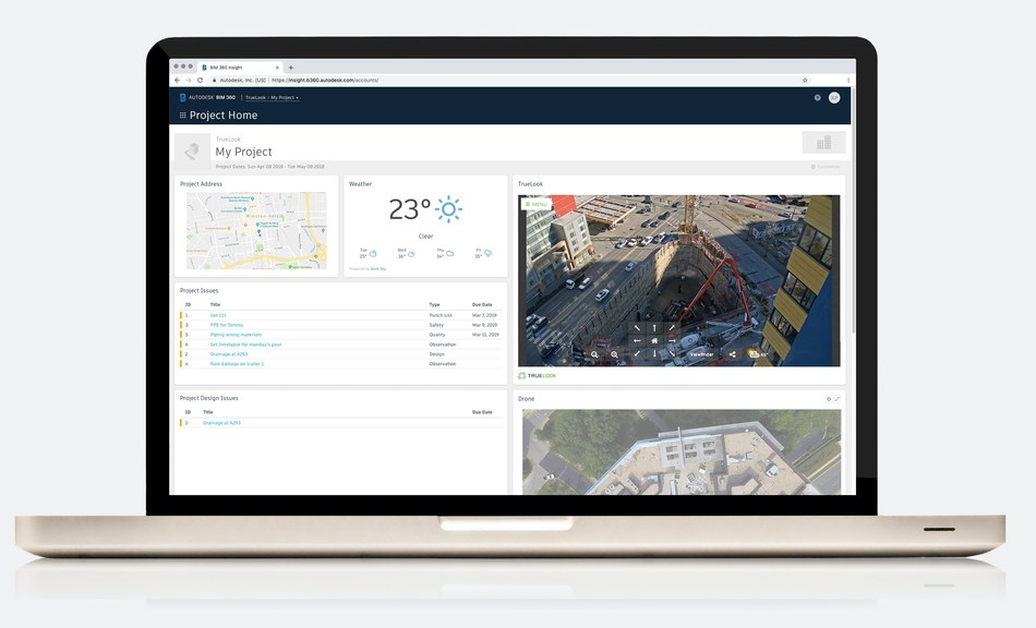 The latest TrueLook and Autodesk BIM 360 integration allows construction camera users to conveniently livestream videos on the home dashboard of the leading construction management platform.