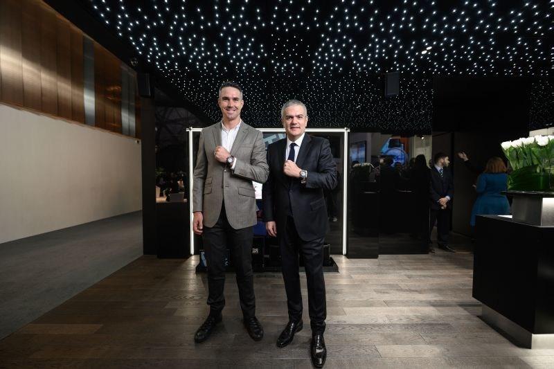 Kevin Pietersen, HUBLOT new friend of the brand, and Ricardo Guadalupe, HUBLOT CEO. (PRNewsfoto/HUBLOT)