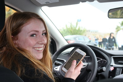 A Southern California teen experiences the dangers of texting while driving at the Mercury Insurance Drive Safe Challenge