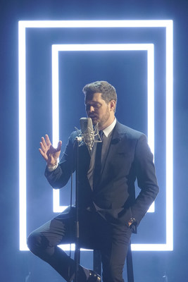 "Michael Bublé performing in ""bublé!"", the brand-new, one-hour special starring the international, best-selling singer/songwriter/entertainer. Alfred Haber Television, Inc. has secured the exclusive international distribution television rights for this NBC special."
