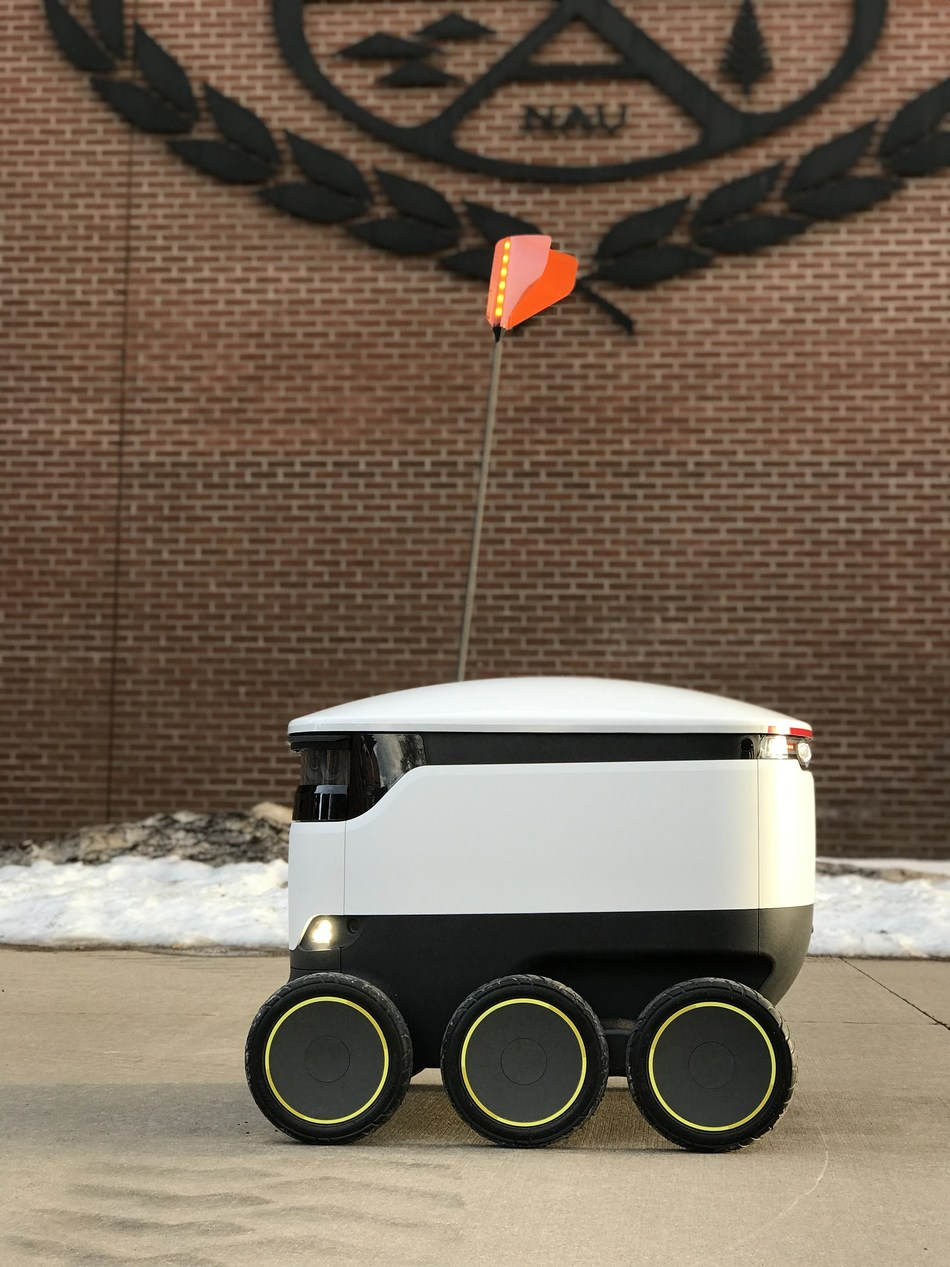 Sodexo, Inc. and Starship Technologies launch robot delivery service today at Northern Arizona University.