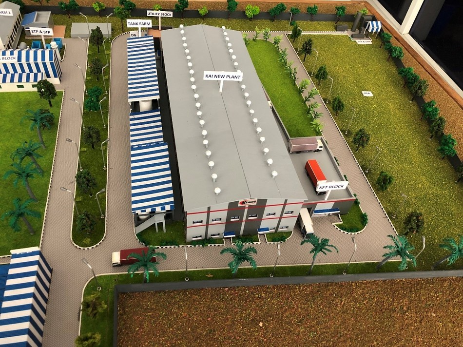 Rendering of the new Kemin Animal Nutrition and Health – South Asia manufacturing plant in the SIPCOT industrial estate of Gummidipundi, Tamil Nadu, India.