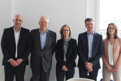 Algaia strengthens its shareholding structure - Eyal Shalmon, chairman of the board of Algaia, Antoine Velge, CEO & President of Sapec, Celia Hart, Managing Partner of SuperNova, Fabrice Bohin, CEO & founder of Algaia and Efrat Gilat, CEO of Maabarot