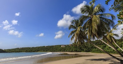 One of the beautiful beaches at La Sagesse, Grenada