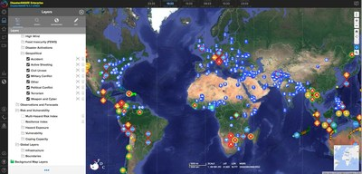 DisasterAWARE Enterprise real-time access to Geopolitical Data including political, military, security, civil unrest, economic, social, and infrastructure events around the world.