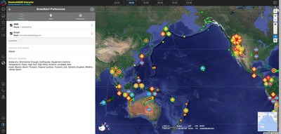 SmartAlert™ technology allows users to specify geographical areas to monitor for natural and man-made hazards.Custom algorithms for multiple hazard types help to identify the maximum alerting geography. SmartAlert™ users will receive automatic messages via email or text message for any hazards identified in the specified geofenced area.