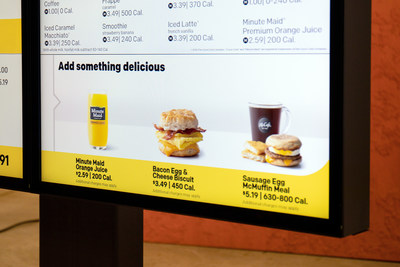 With this technology, customers can have items that pair well with their existing order suggested as additions on the drive-thru digital menu board.