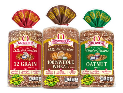 Arnold, Brownberry and Oroweat Whole Grain line