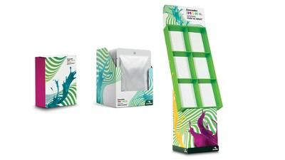 Présentoirs, emballages pour produits de consommation, prêt-à-vendre et publicité sur le lieu de vente. (Groupe CNW/Cascades Inc.)
