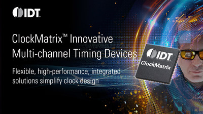 IDT's ClockMatrix timing solutions accelerate carriers' migration to 5G networks.