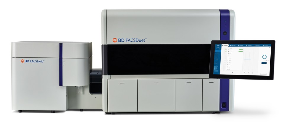 BD FACSDuet™ clinical sample preparation system integrates with the BD FACSLyric™ flow cytometer