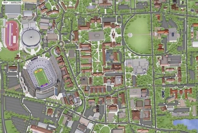 Louisiana State University - Concept3D Interactive Map and Virtual Tour Platform - Create Immersive Campus Experiences - Up-Close 3D Detail