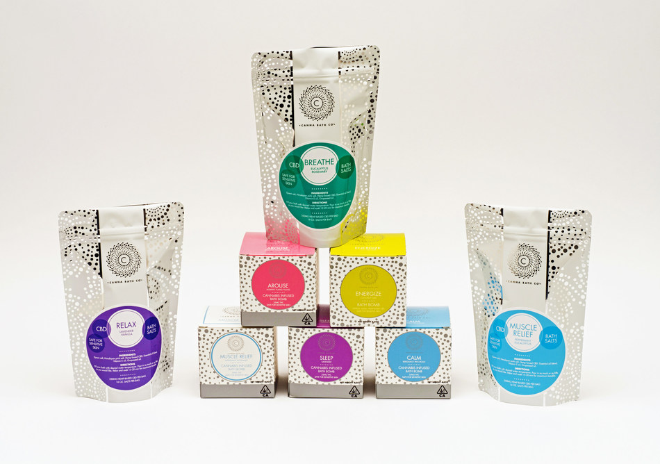 Canna Bath packaging designed by Hippo Premium Packaging. www.HippoPackaging.com