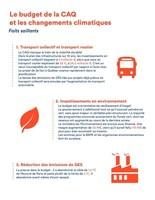 Le budget de la CAQ et les changements climatiques (Groupe CNW/Aile parlementaire de Québec solidaire)