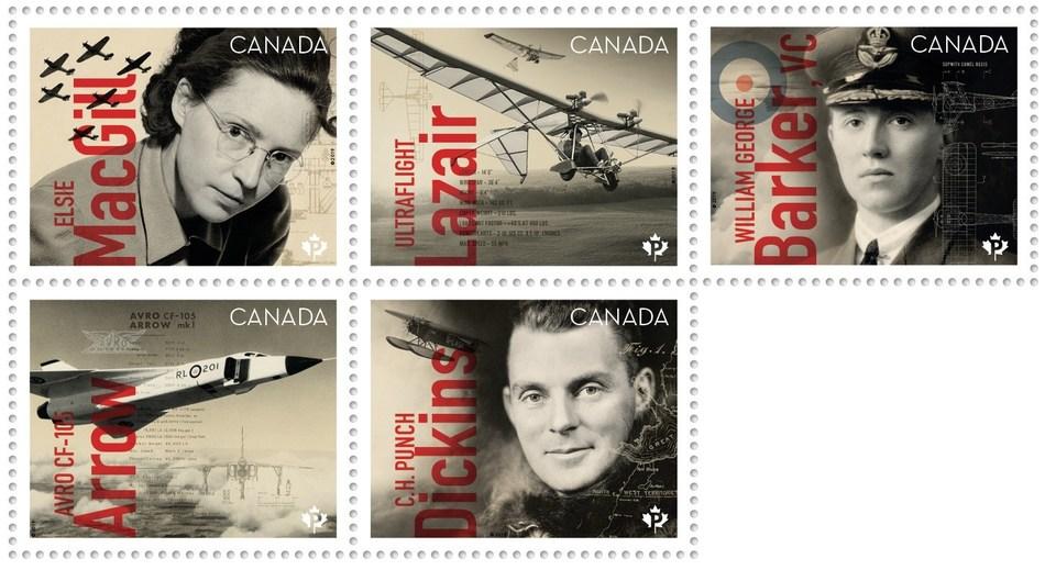 Exploits de l'aviation canadienne (Groupe CNW/Postes Canada)