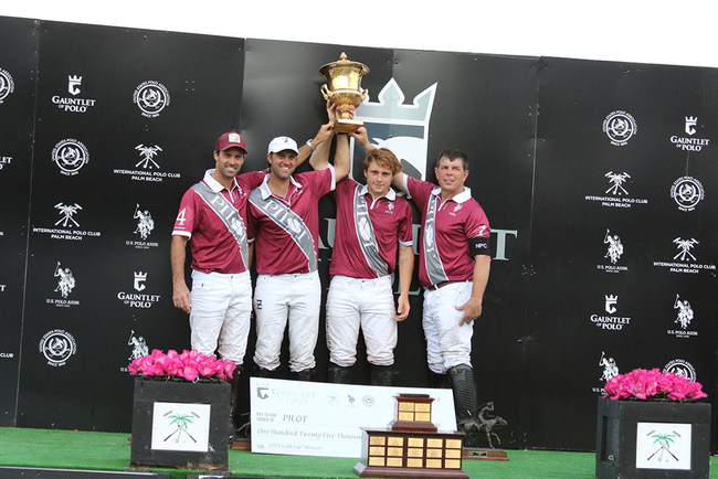 From left to right - Facundo Pieres, Gonzalito Pieres, Matias Gonzalex, Curtis Pilot