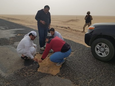 Engineers assess road conditions and plan repairs in Al-Jawf