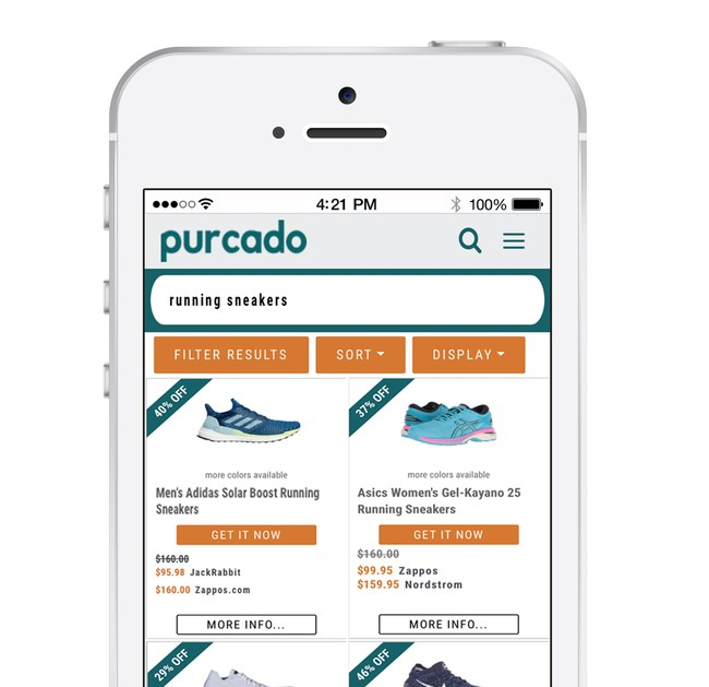 Purcado shows shoppers the best deals on the shoes they want. (photo credit: Purcado)