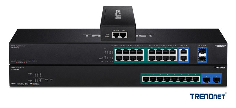 TRENDnet 4PPoE 90 Watt Switches and 4PPoE 90 Watt Injector