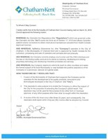 Resolution from Municipality of Chatham-Kent (CNW Group/AgMedica Bioscience Inc.)