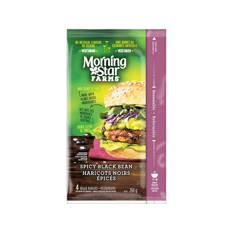 MorningStar Farms Veggie Burgers, the #1 Veggie Burger in the USA, are Coming to Canada (CNW Group/MorningStar Farms)